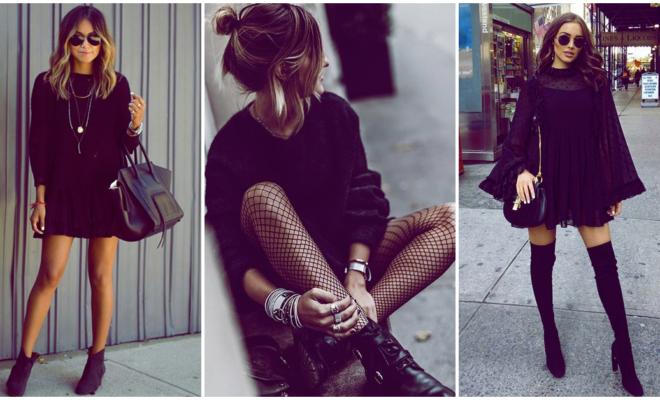 Vestí durante una semana un look total black y así influyó en mí… ????