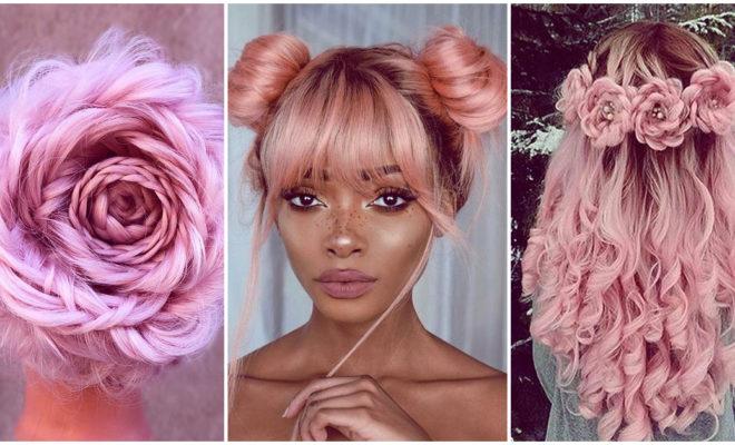 Los peinados más bonitos con melena rosa