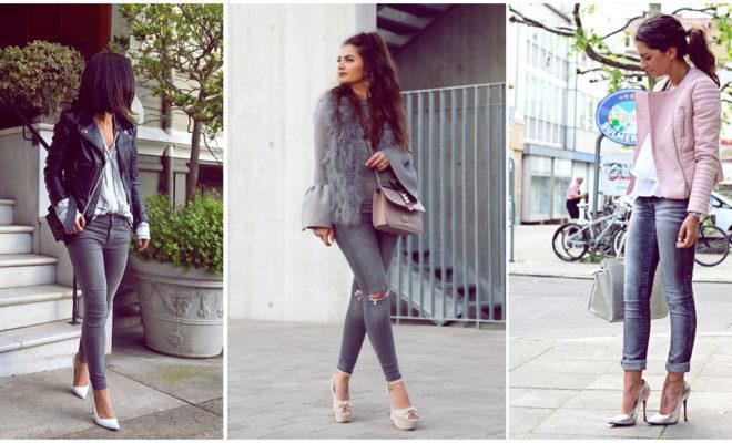 Jeans grises, las mejores combinaciones casuales para verte arreglada