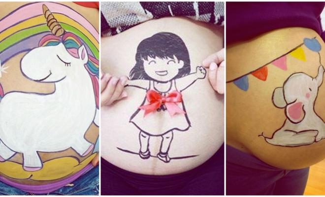 Diseños tiernos y originales en tu pancita que puedes llevar en el embarazo