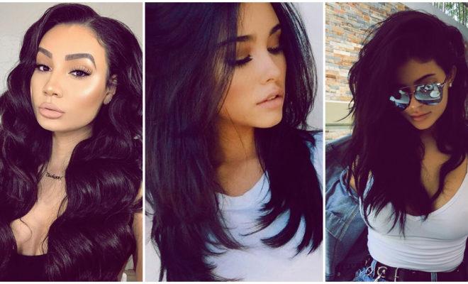 El cabello negro es ideal para las chicas morenas