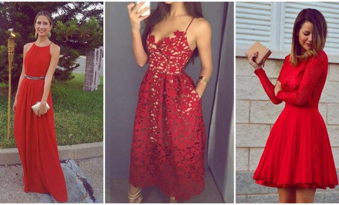 Vestidos rojos para lucir en eventos formales