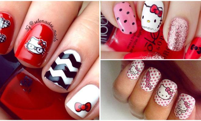 Diseños de Hello Kitty para lucir unas uñas coquetas