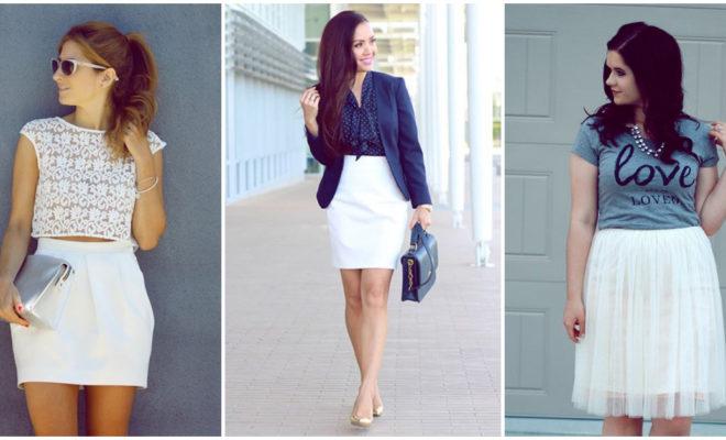Combina tu falda blanca a la perfección