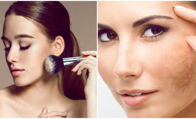 Maquillaje para cubrir el paño