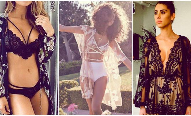 Bralettes y kimonos: una combinación sexy que te va a encantar