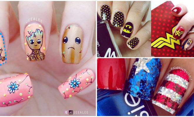 Diseños de uñas inspirados en superhéroes