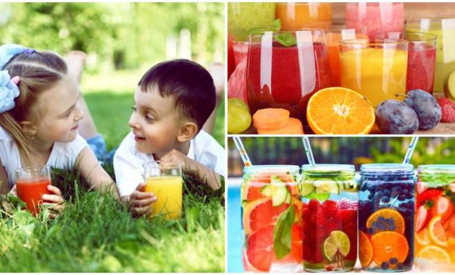 Bebidas saludables para niños y que aportan energía