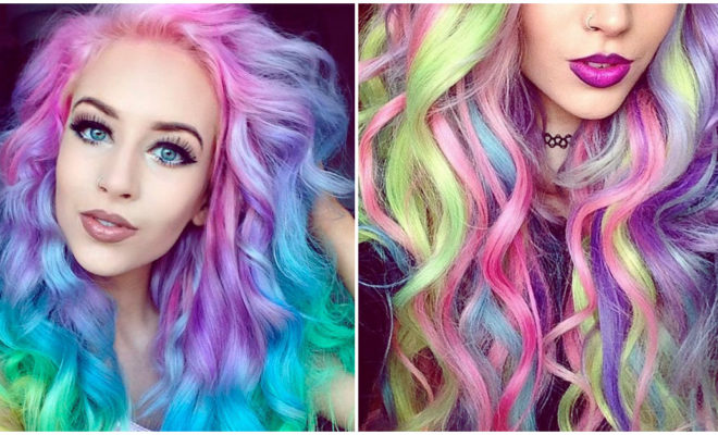El look más divertido: cabello arcoíris, ¿lo usarías?