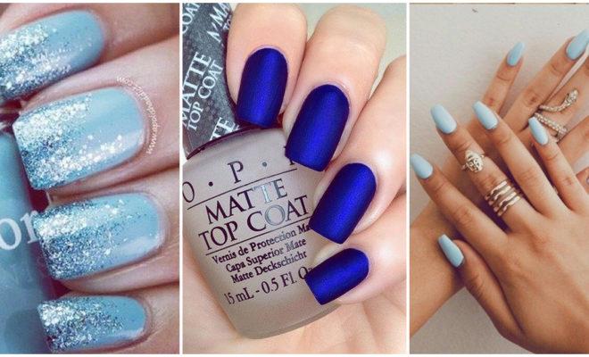 Esmaltes azules para lucir una manicura de envidia