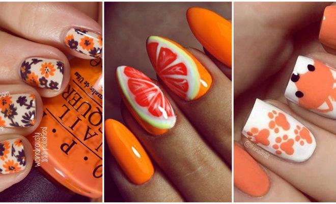 Manicuras en color naranja que debes usar al menos una vez