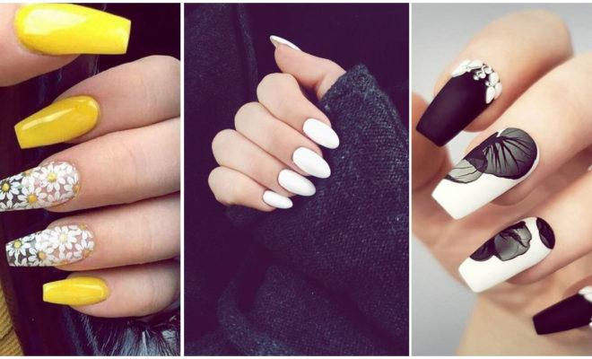 Diferentes formas de usar las uñas color blanco, ¡son preciosas!