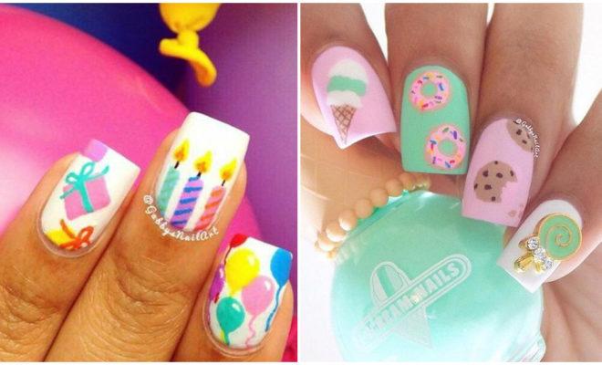 Diseños de uñas para el día de tu cumpleaños