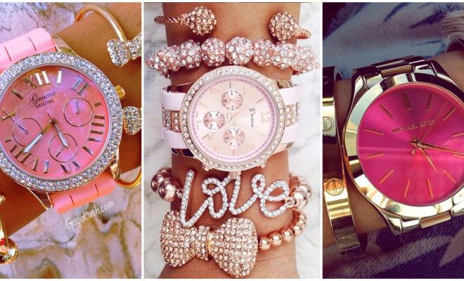 Relojes color rosa: con esta joyería puedes combinarlos