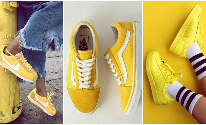 Tenis amarillos: presume tu estilo extrovertido
