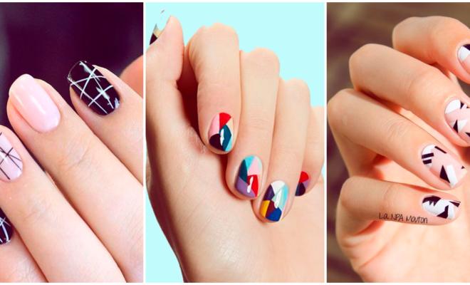 Increíbles manicuras llenas de colores y formas geométricas