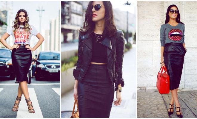 Faldas de piel: ¿cómo combinarlas?