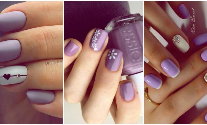 Luce una manicura divertida en color lila