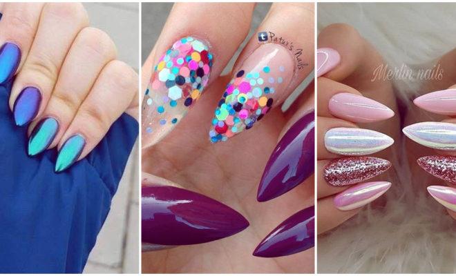 Diseños que les van perfectos a las uñas en forma de almendra