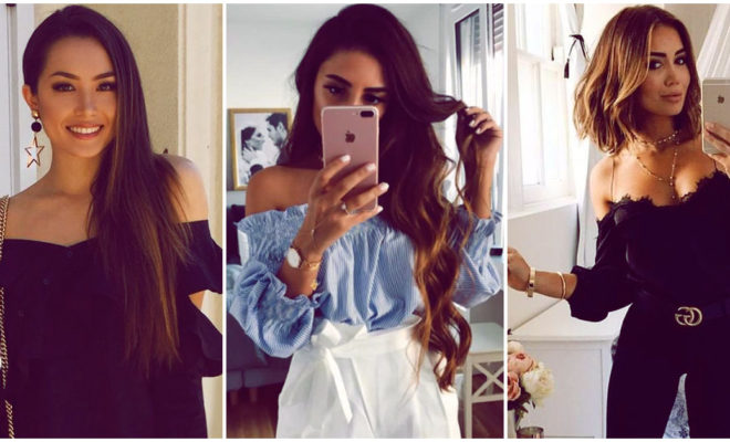 Cómo usar blusas off shoulder en tus 30