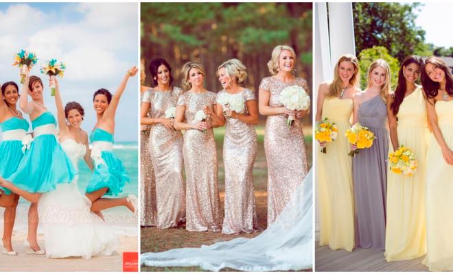 Cómo vestir a tus damas de honor de una forma muy elegante
