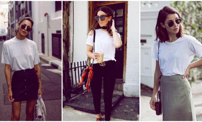 Cómo combinar tu t-shirt blanca de formas diferentes
