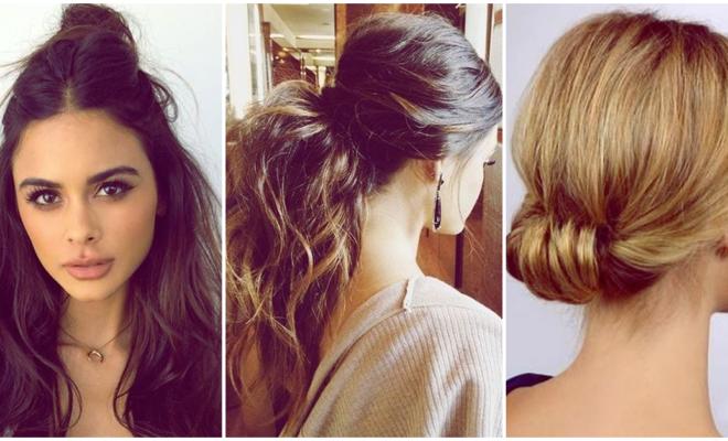 Peinados de 5 minutos que te sacarán de cualquier apuro