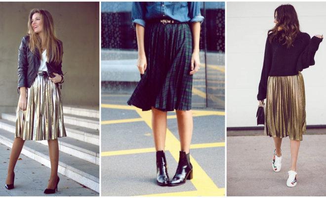 Falda plisada, ¿se puede combinar con todo tipo de calzado?
