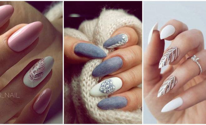 Creativos diseños de uñas de plumas de aves