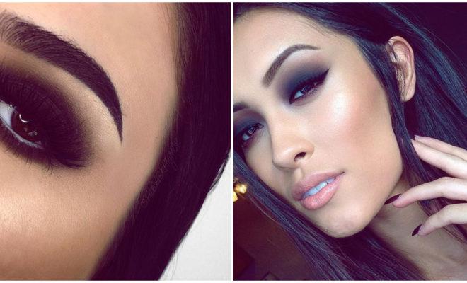Cómo maquillarte con sombra negra sin que se te corra