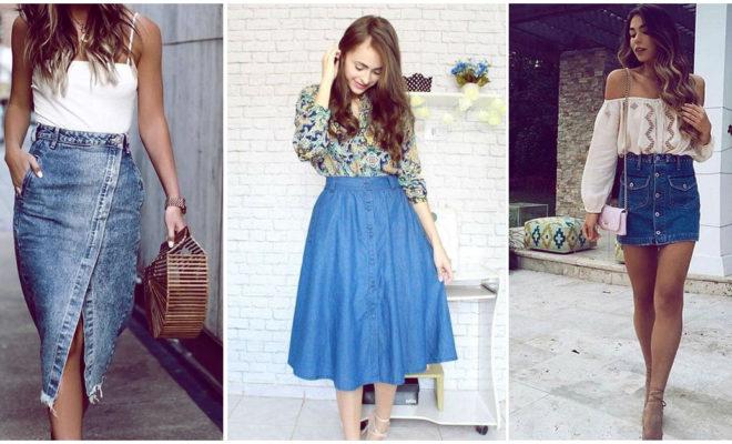 Faldas de mezclilla: ¿cómo usarlas durante el verano?