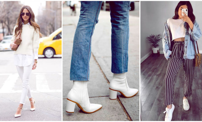 Zapatos blancos: ¿vale la pena tenerlos en el armario?
