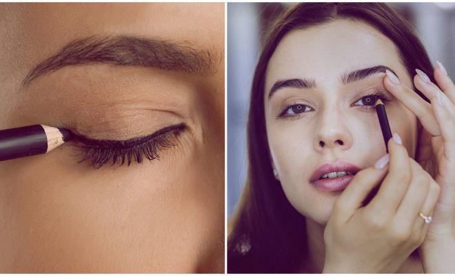 Lápiz negro y un poco de corrector: el makeup de moda