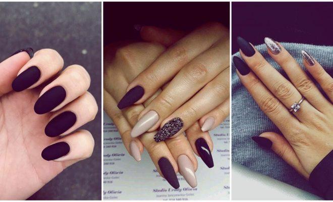 Cómo usar el negro en una manicura sin verte dark
