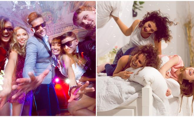 Diferencias en una noche de chicas a los 20 y a los 30