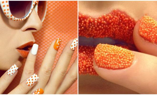 Manicuras de color naranja que vas a amar