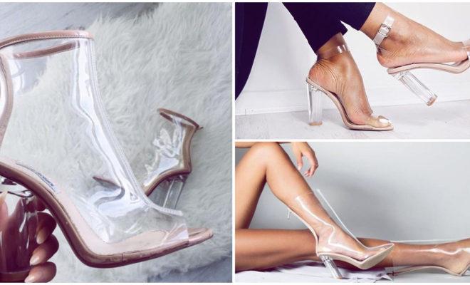 Únete a la tendencia de los zapatos transparentes