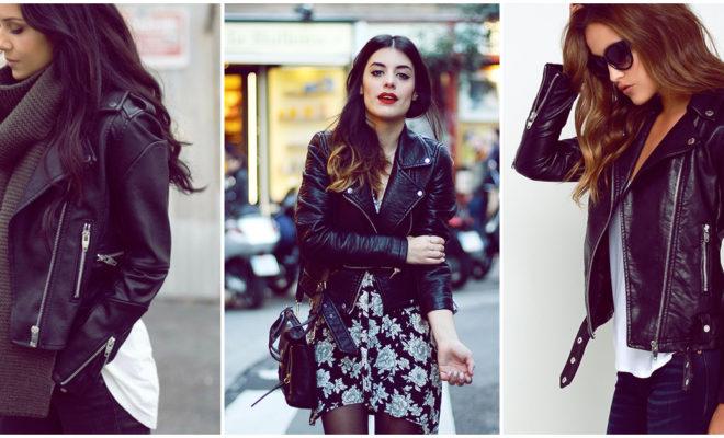 Formas sexy de llevar tu leather jacket