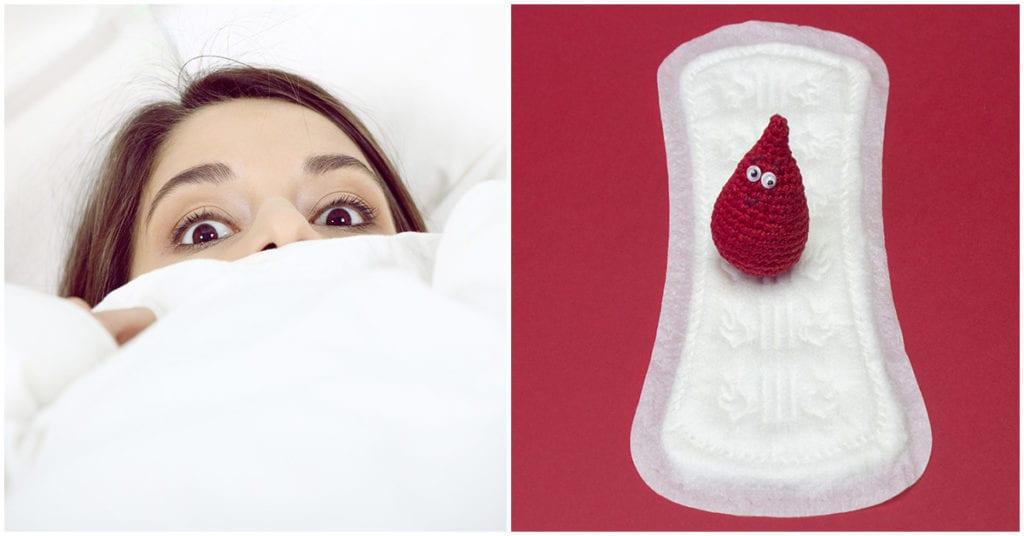 Si sueñas que tu ropa se mancha con menstruación, este es el significado