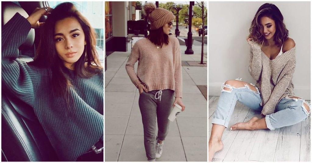 Así puedes llevar los suéteres en el otoño para verte sexy