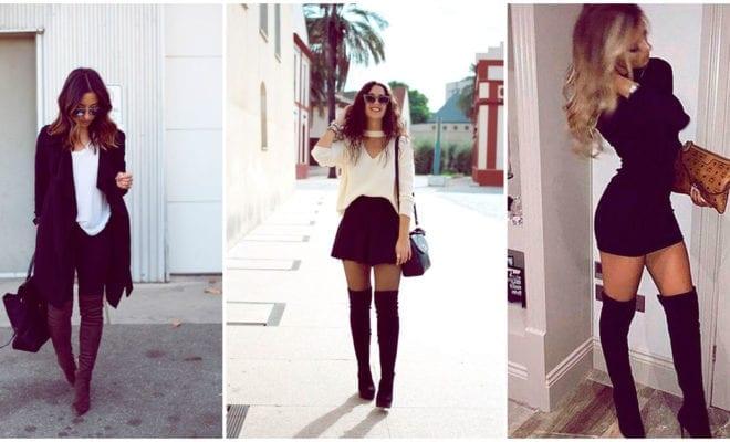 Cómo lucir como la chica más sofisticada con botas a la rodilla