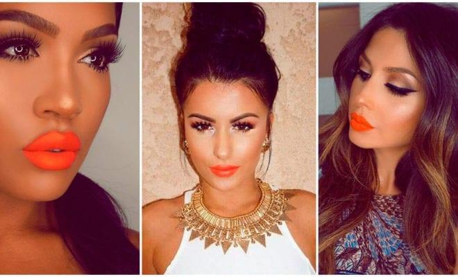 Cómo utilizar los labios naranjas con tus outfits de todos los días