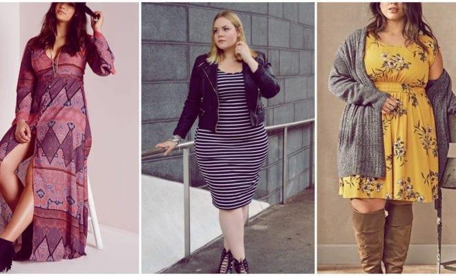 Moda de otoño para chicas curvy que aman los vestidos