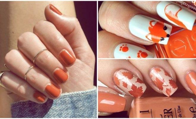 Diseños de uñas otoñales con colores cálidos