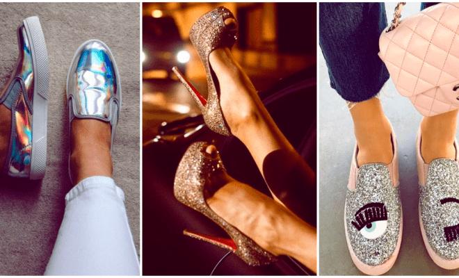Zapatos con brillo, ¿cómo usarlos sin pasarte de la raya?