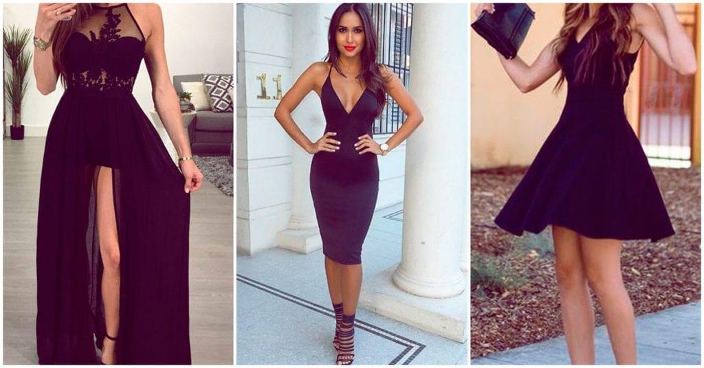 Vestidos negros que pueden hacerte lucir sexy