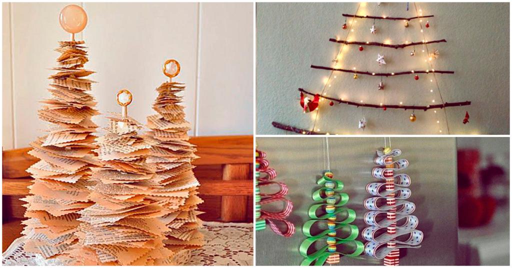 Haz tu propio árbol de navidad sin gastar una fortuna