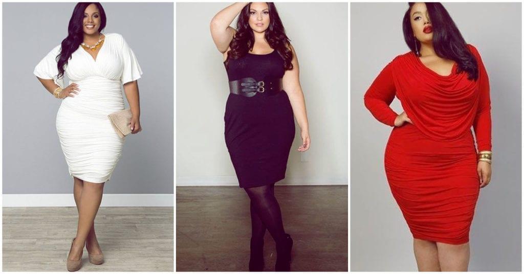 Vestidos pegados para chicas curvy, ¿cómo los usamos?