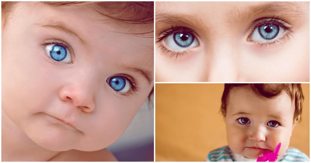 Por qué a algunos bebés les cambia el color de los ojos