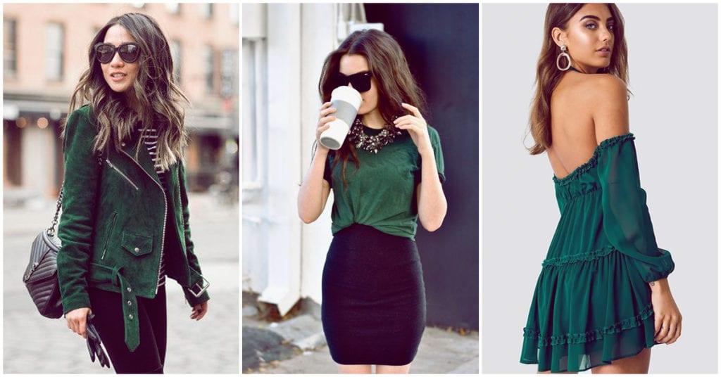 Así puedes llevar el color verde para estar a la moda